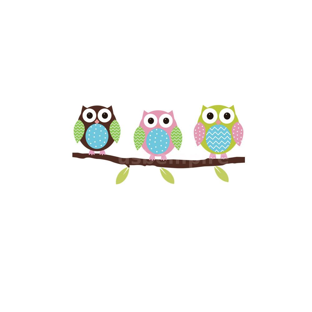 cheap removable wall art stickers owl birds tree pattern. Black Bedroom Furniture Sets. Home Design Ideas
