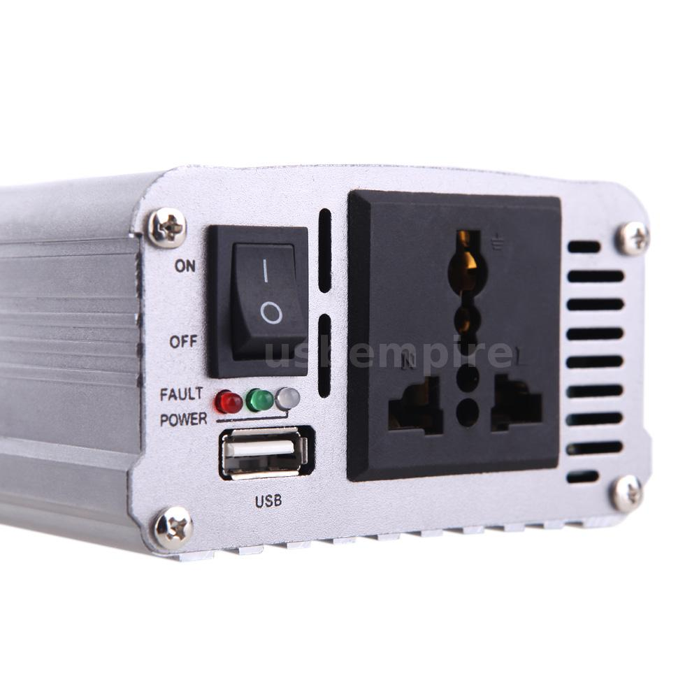 500w car battery power inverter voltage adapter dc 12v to ac 220v usb adaptor ebay. Black Bedroom Furniture Sets. Home Design Ideas