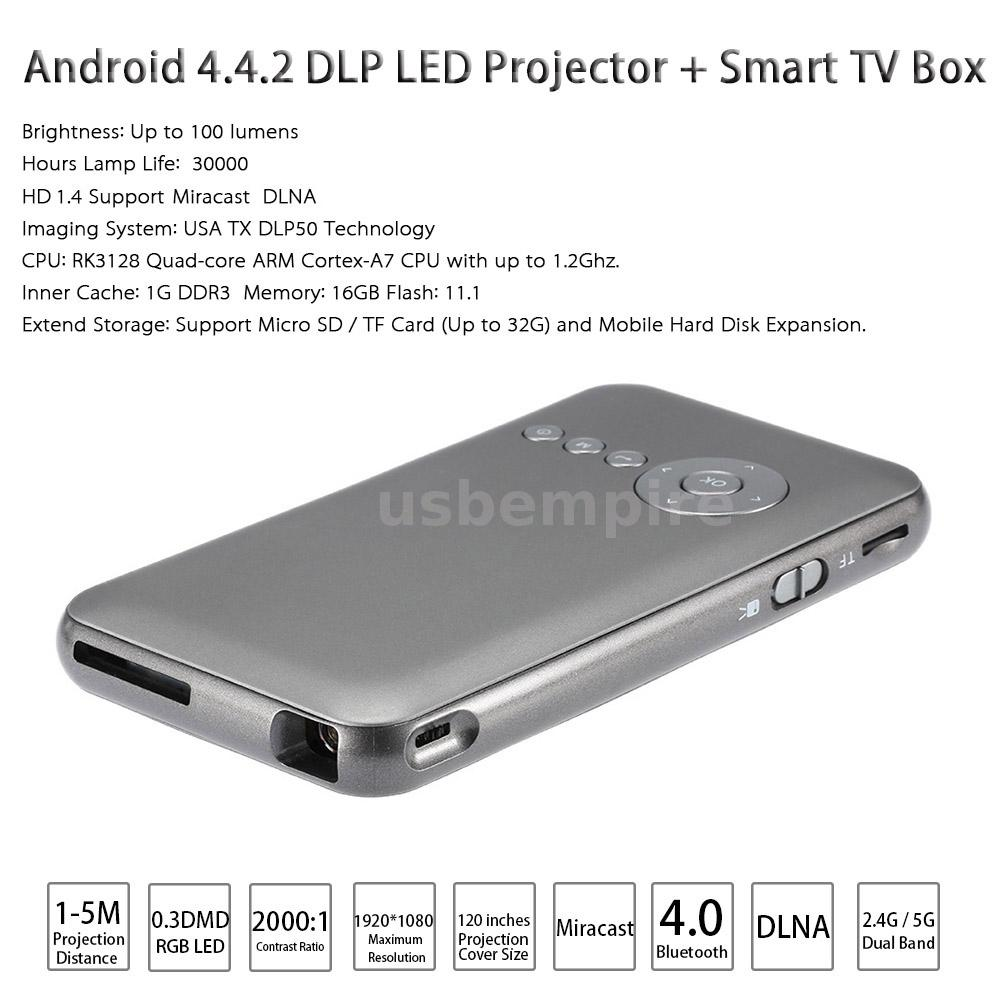 Wifi pocket mini hd dlp led projector smart tv box for for Pocket projector dlp