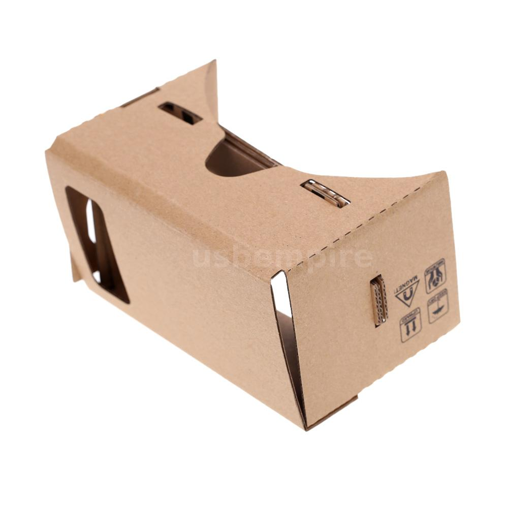 50x google karton virtuelle realit t 3d vr brille anzeigen gl ser f r handy q7a8 ebay. Black Bedroom Furniture Sets. Home Design Ideas